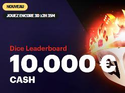 10 000 € à gagner dans Dice Leaderboard sur Napoleongames.be !