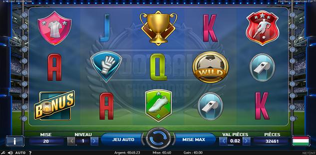 777.be agrandit sa collection avec le jeu Champions Cup