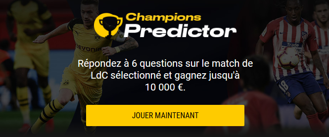Champions Predictor de Bwin.be : gagnez 10 000 € cash !