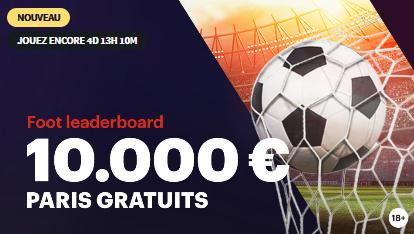 Foot Leaderboard avec 10 000 € à gagner sur Napoleongames.be !