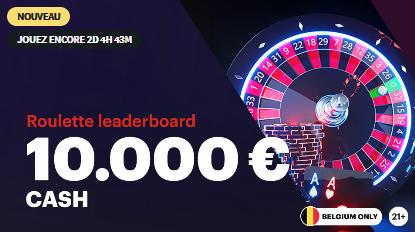 Live Casino Leaderboard : 10 000 € en jeu sur Napoleongames.be !