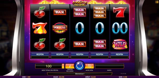 Million Coins Respin : remportez 1 000 000 de jackpot sur 777.be