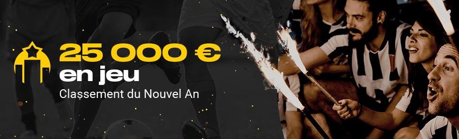 L'offre Compte à rebours Nouvel An de Bwin.be : 25 000 € à gagner !