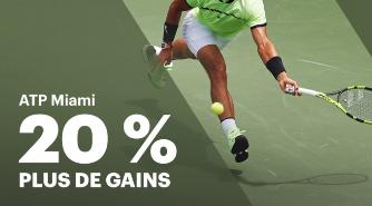 Paris lucratifs sur l'ATP Miami sur Napoleongames.be : empochez plus de gains