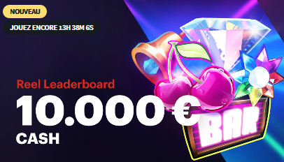 Reel Leaderboard : 10 000 € à partager sur Napoleongames.be !