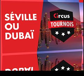 Tournois hebdomadaires de janvier 2020 sur Circus.be